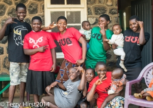 Children at Orphanage at St Martin de Porres Mission Hospital, wearing their new t-shirts from DCA, Phila.